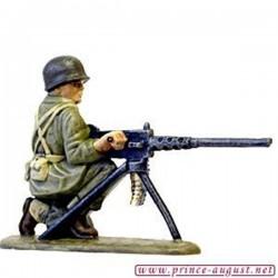 USA servant de mitrailleuse lourde