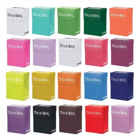 6 x Ultra Pro Deck Boxes Various Colours For Trading Card Game Storage