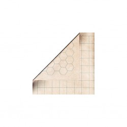 Battlemat reversible (carrés/hexagones) 60x66