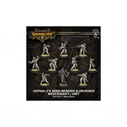 WARMACHINE MERCENARIES CEPHALYX MIND BENDER & DRUDGES UNIT