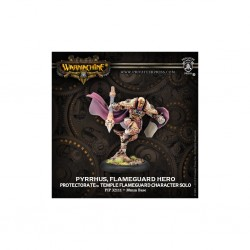 WARMACHINE PROTECTORATE OF MENOTH PYRRHUS FLAMEGUARD HERO TEMPLE FLAMEGUARD CHARACTER SOLO