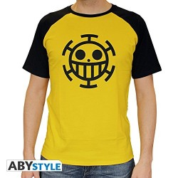 TSHIRT ON PIECE DRAPEAU LAW/JAUNE TAILLE S ABYTEX218