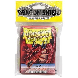 DRAGON SHIELD MINI CARD SLEEVES RED