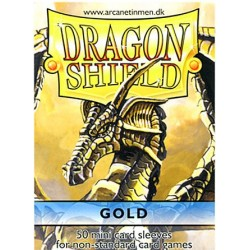 DRAGON SHIELD MINI CARD SLEEVES GOLFD