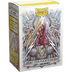 Dragon shield art - brushed - lane thunderhoof