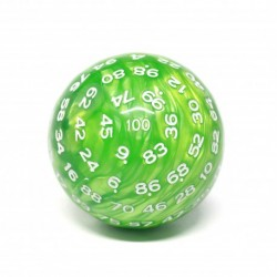 Dé a 100 faces - JD - pearl green